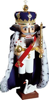 Nutcracker king ludwig the second with cape