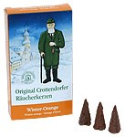 Crottendorfer incense cone - winter-orange
