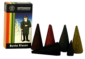 Crottendorfer incense cones - varied mix of giant cones