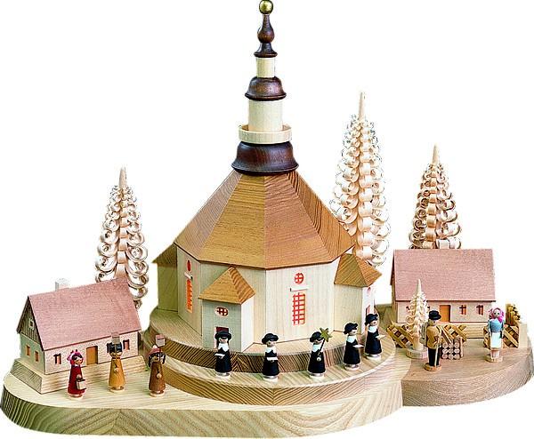 Richard Gläser Weihnachtsberg Seiffener Kirche- beleuchtet