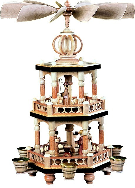 2-storeyed pyramid, Bible story - natural coloured