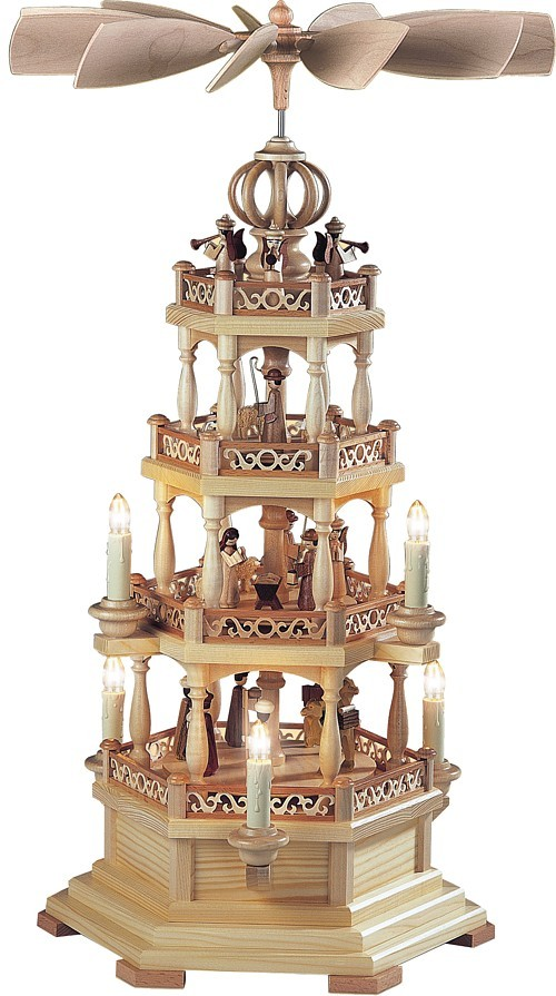 3-storeyed pyramid, Bible story, with angels