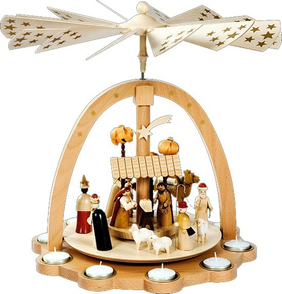 richard gl sser pyramide christi geburt f r teelichter f r 246 10. Black Bedroom Furniture Sets. Home Design Ideas