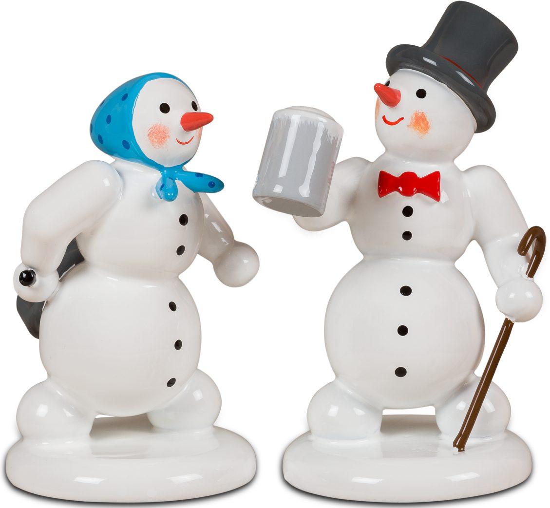 Ellmann Schneemann und Schneefrau - Nach dem Weihnachtsmarkt