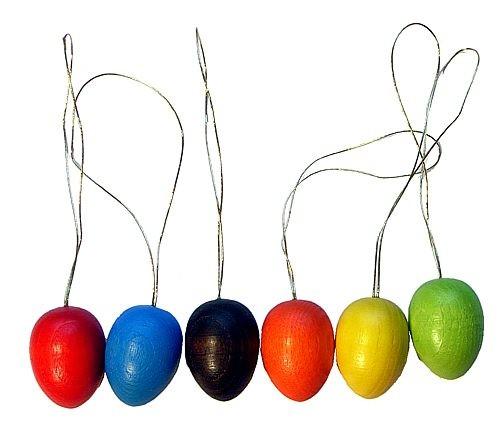 ArtDesign Ostereier farbig gebeizt - aus Holz