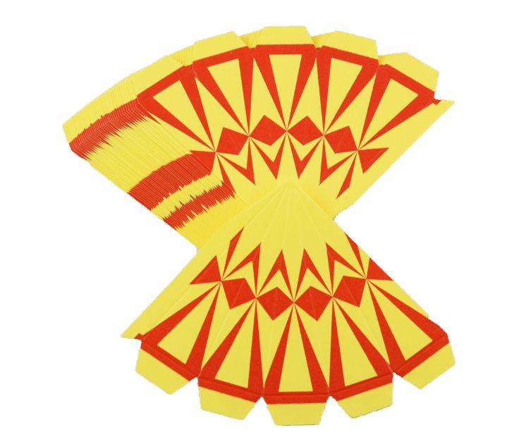 Bastelset 3er-Set Marienberger Adventssterne gelb-rote Ornamente