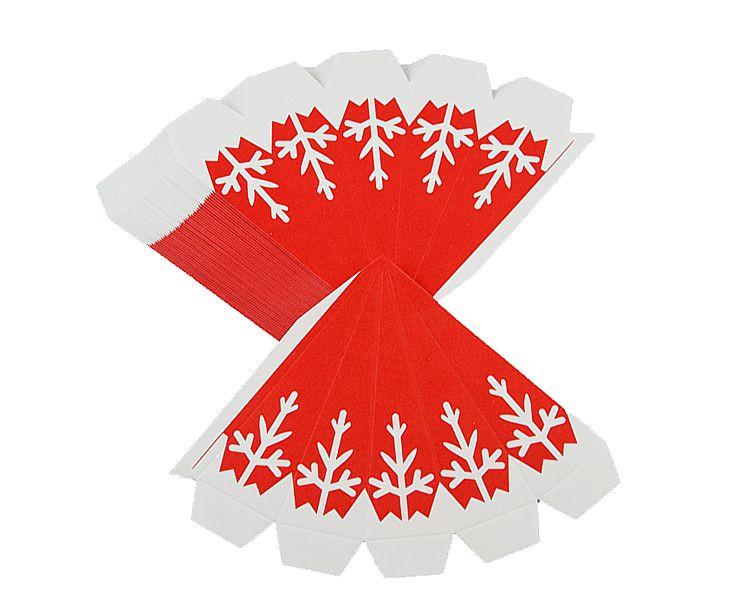 Bastelset Marienberger Adventsstern rot-weiße Flocken