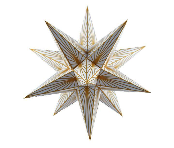 Marienberger Adventsstern - goldene Linien 1