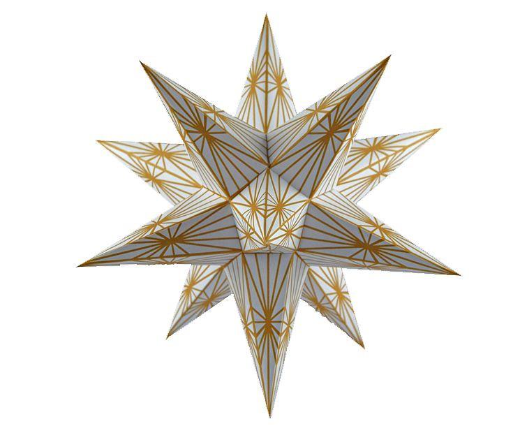 Marienberger Adventsstern - goldene Linien 2