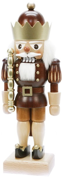 Nutcracker king natural and gold colored