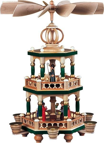 2-storeyed coloured pyramid, Bible story