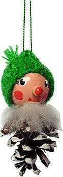 Stephani Heiner Zapfenmännchen mit grüner Mütze