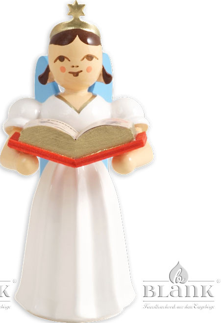 Blank Langrockengel mit Märchenbuch, farbig
