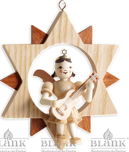 Blank Engel im Stern mit Gitarre