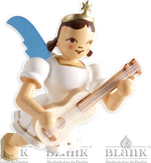Blank Schwebeengel mit Gitarre, farbig
