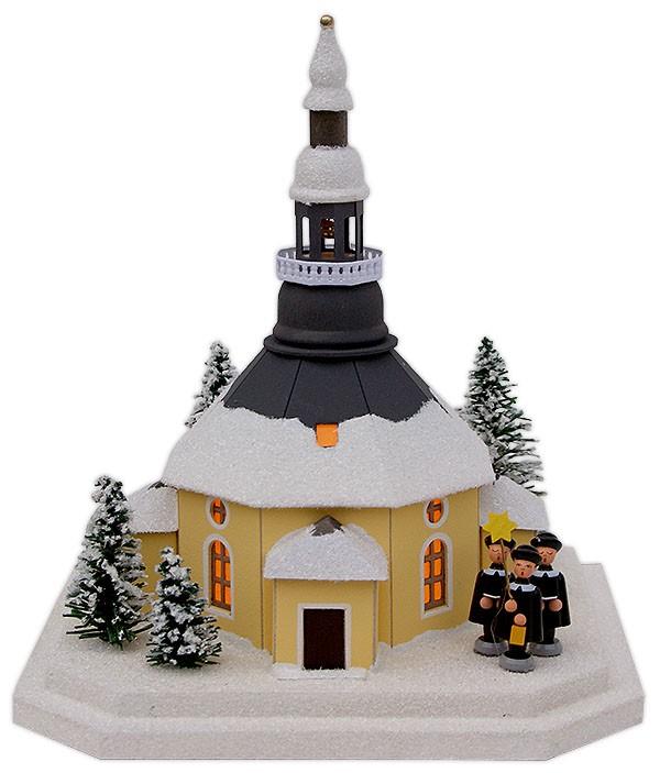 Birgit Uhlig Lichterhaus Seiffener Kirche mit Kurrende