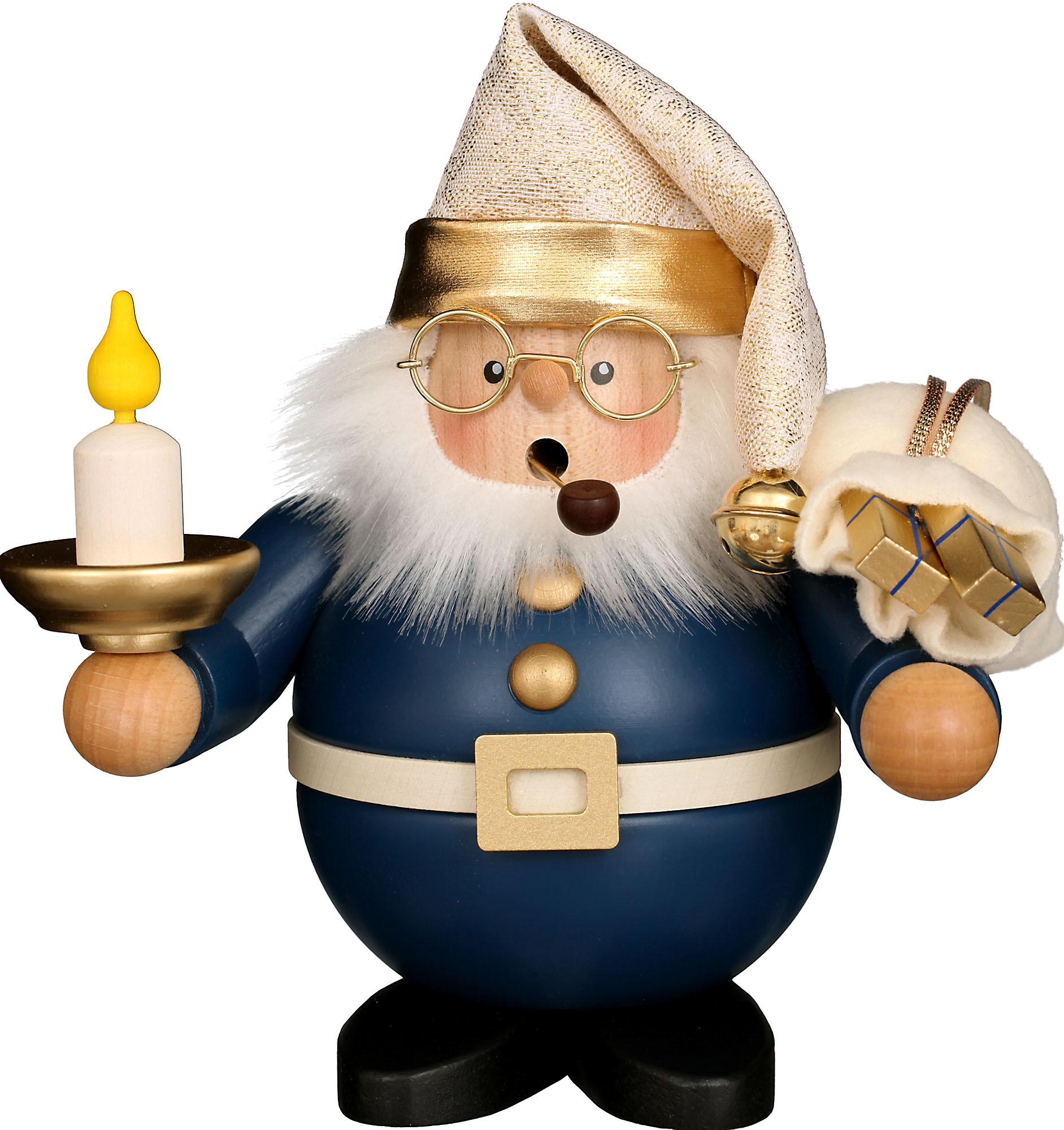 Christian Ulbricht Räuchermann Weihnachtsmann mit Kerze