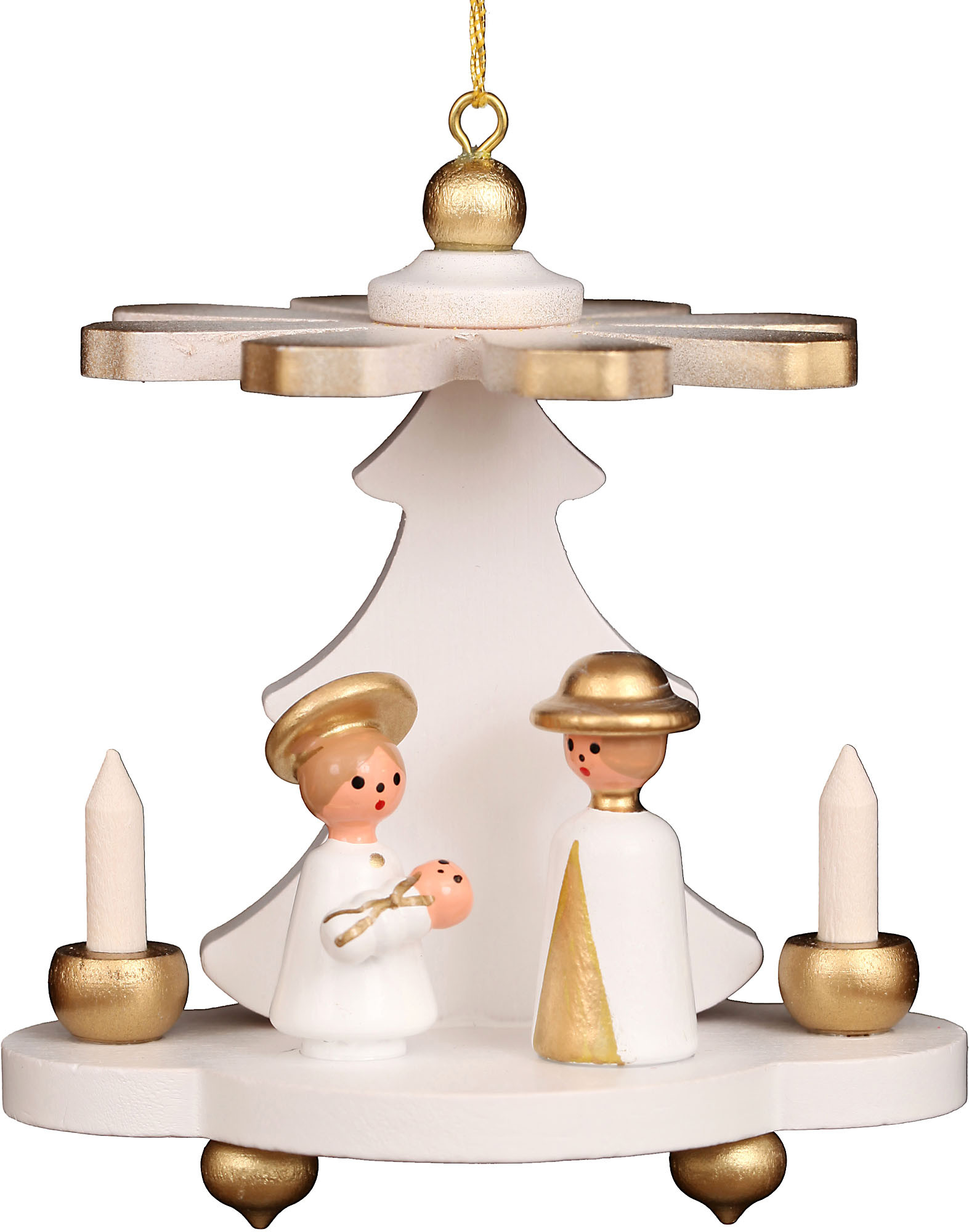 Christian Ulbricht Baumbehang Pyramide weiß mit Heiliger Familie