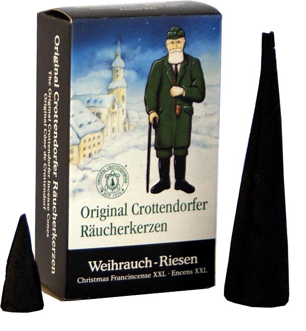 Crottendorfer Räucherkerzen Weihrauch Riesen, 4 St