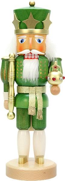 nutcracker king green/gold varnished