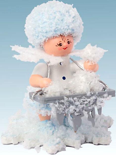 Drechslerei Kuhnert Schneeflöckchen mit Eiskugeln