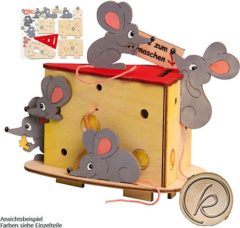 Drechslerei Kuhnert Bastelset Spardose Mäuse