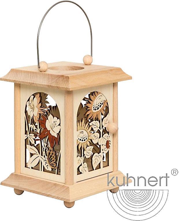 Drechslerei Kuhnert Tischlaterne - Sommerblumen