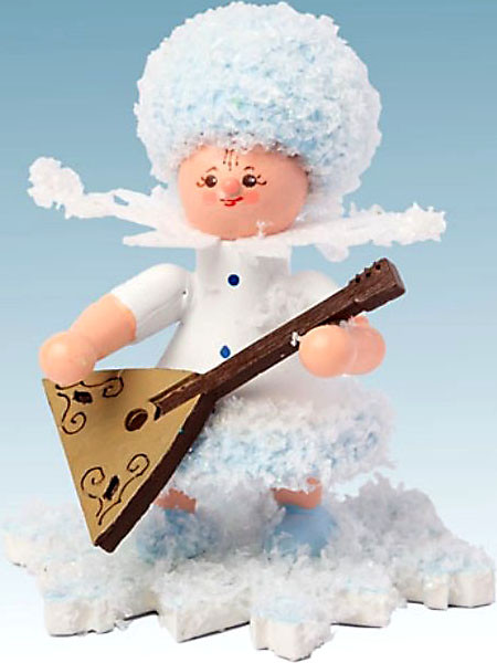 Drechslerei Kuhnert Schneeflöckchen mit Balalaika