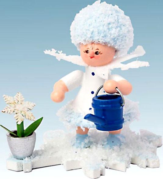 Drechslerei Kuhnert Schneeflöckchen mit Gießkanne