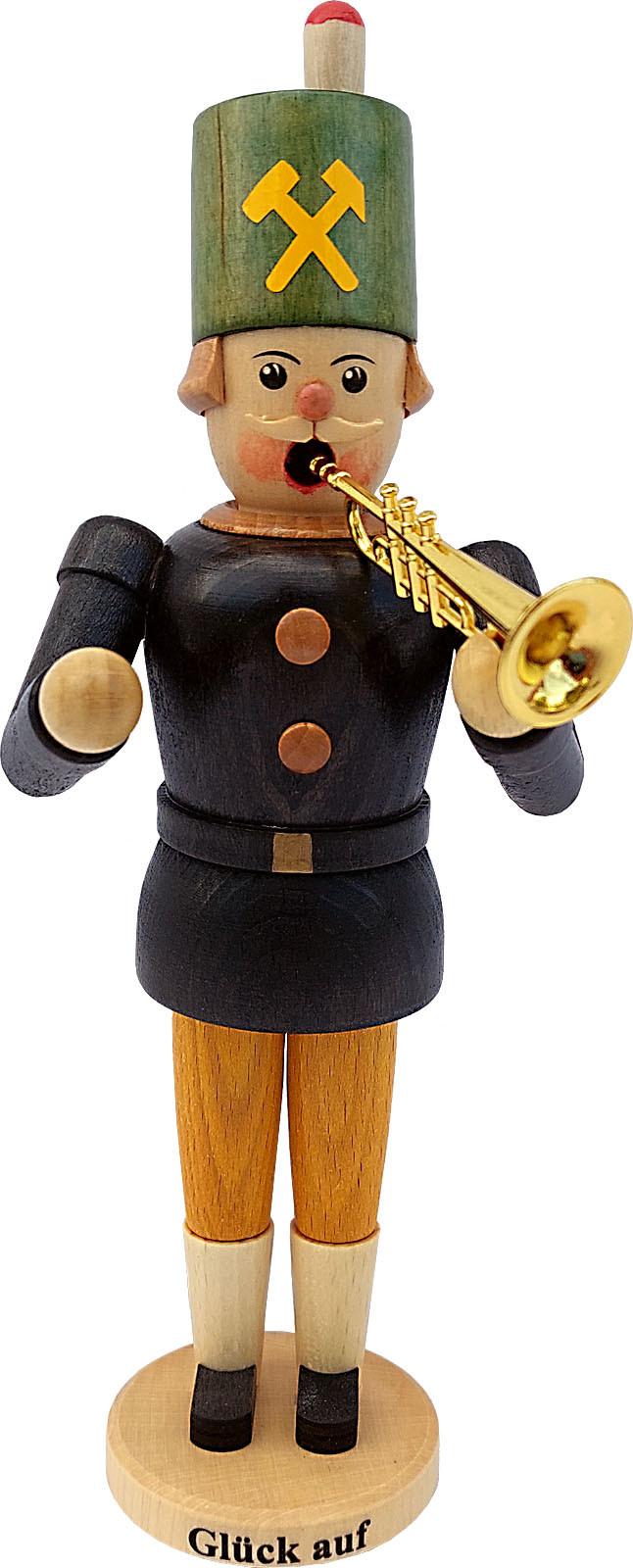 Hänel Räuchermann Bergmann mit Trompete
