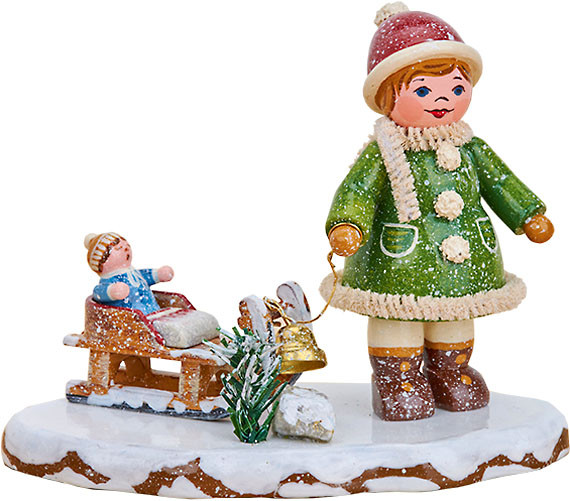 Hubrig Volkskunst Winterkinder - Oh, es schneit, es schneit