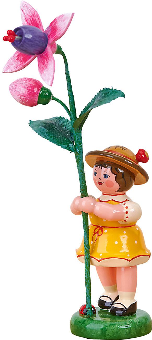 Hubrig Volkskunst Blumenkind - Mädchen mit Fuchsie