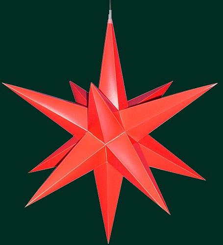 Haßlauer Advent-Außenstern, rot
