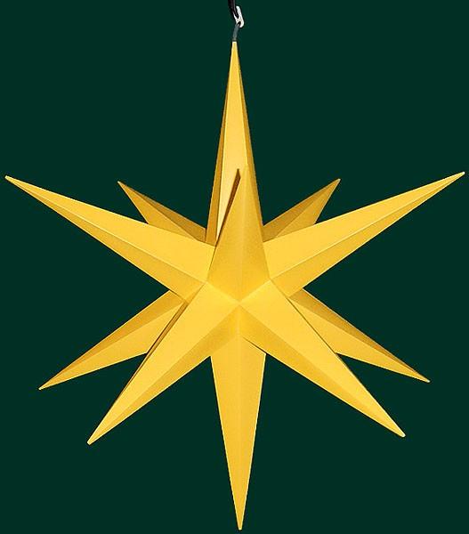 Haßlauer Advent-Außen-Stern, gelb, groß