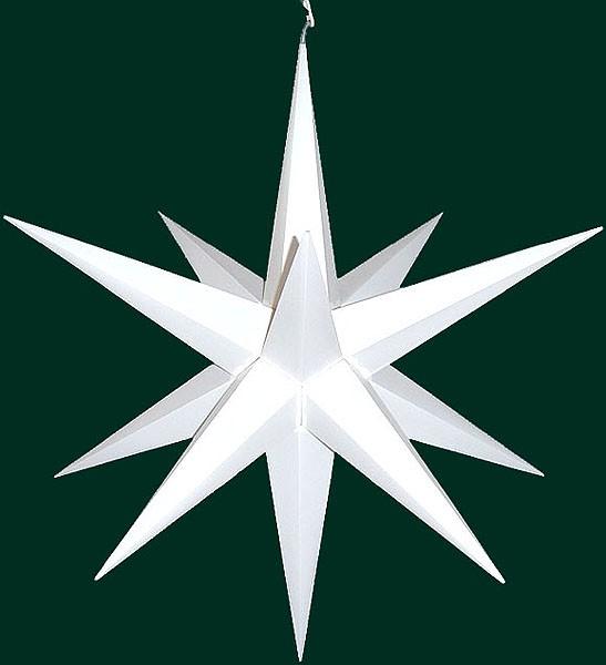 Haßlauer Advent-Außen-Stern, weiß, groß