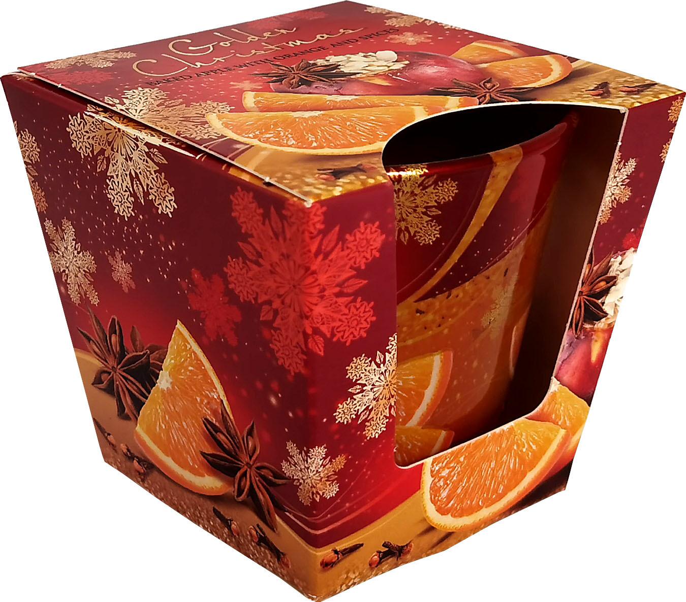 KNOX Duftkerze im Glas Golden Christmas - Bratapfel mit Orange