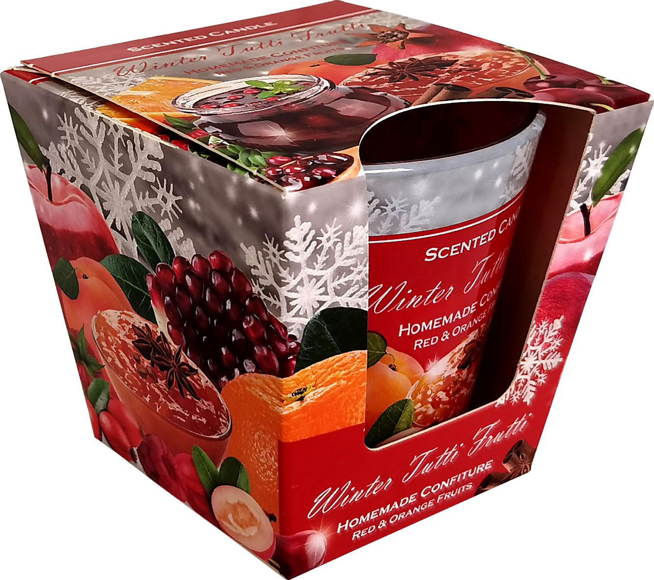 KNOX Duftkerze im Glas Winter Tutti Frutti - hausgemachte Konfitüre