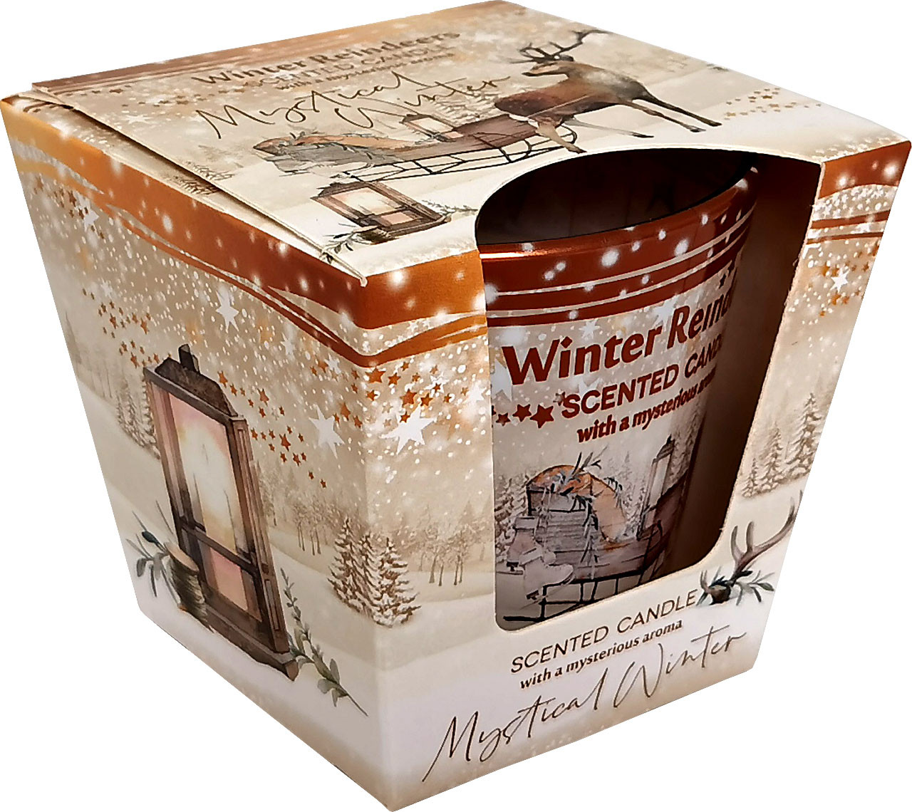 KNOX Duftkerze im Glas Winter Reindeers - Mystischer Winter