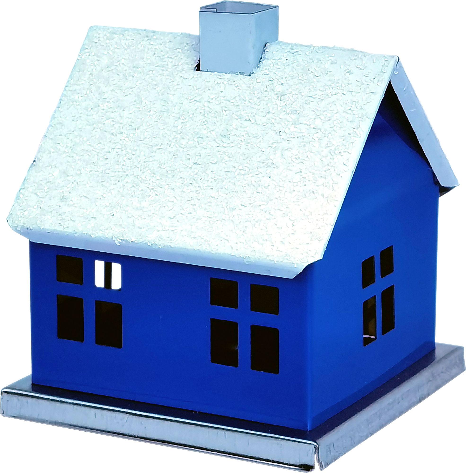 KNOX Räucherhaus, unifarben - blau