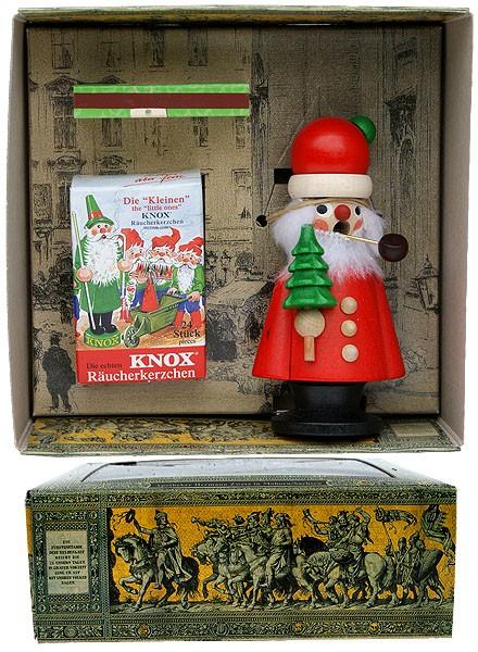 Knox Räuchermann Weihnachtsmann im Geschenkkarton