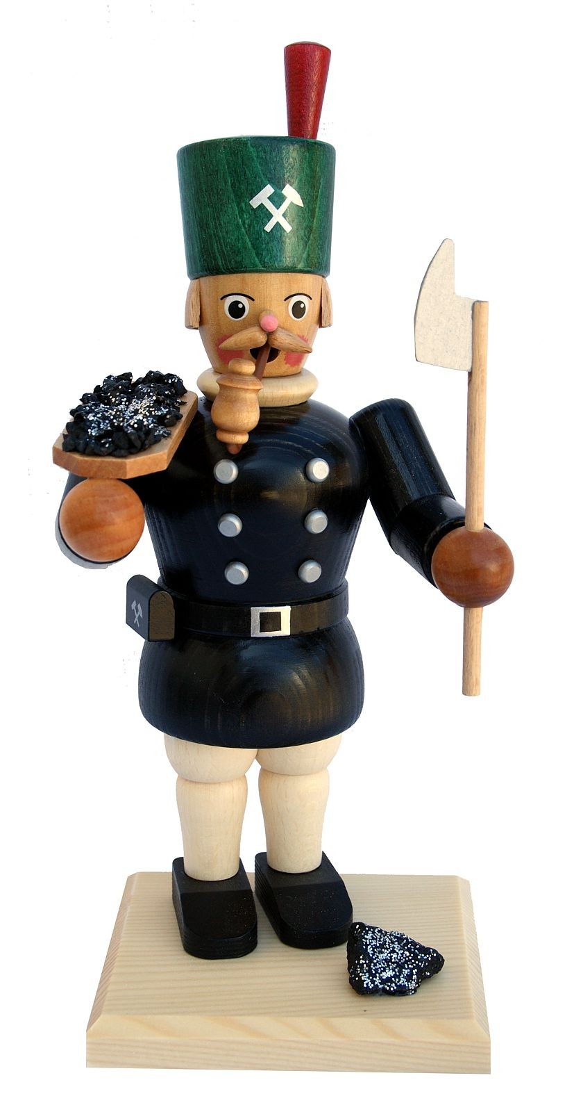 incense smoker, miner with ore bowl