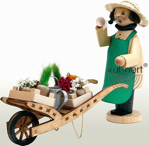 incense smoker, gardener, coloured