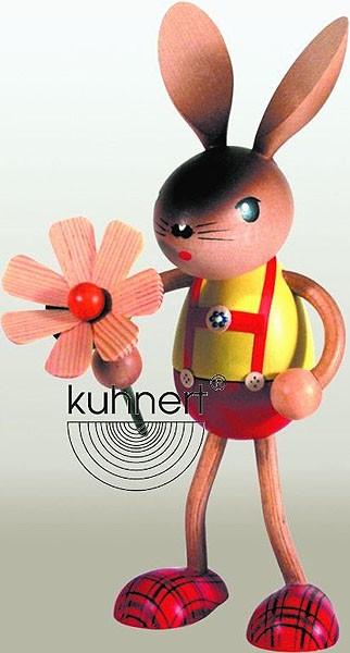 Drechslerei Kuhnert Hasenjunge mit Blume