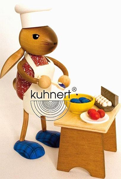 Drechslerei Kuhnert Hasenmädchen Eier färbend