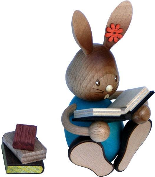 Drechslerei Kuhnert Stupsi Hase mit Büchern