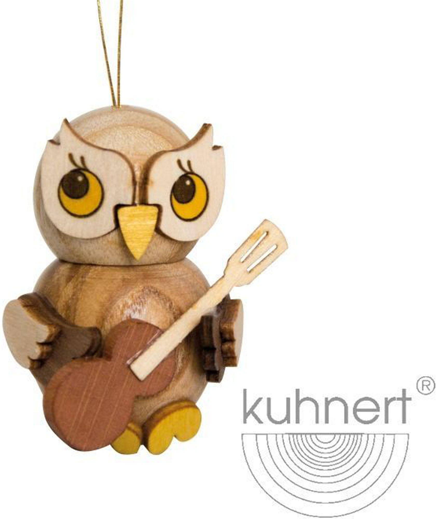 Drechslerei Kuhnert Baumbehang Eulenkind mit Gitarre