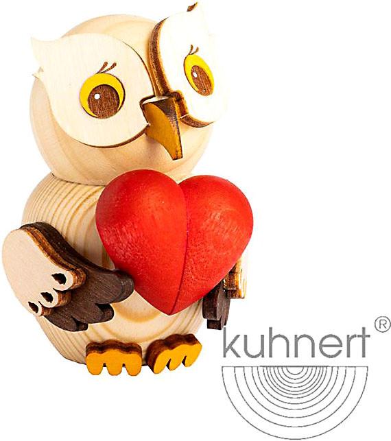 Drechslerei Kuhnert Mini-Eule mit Herz