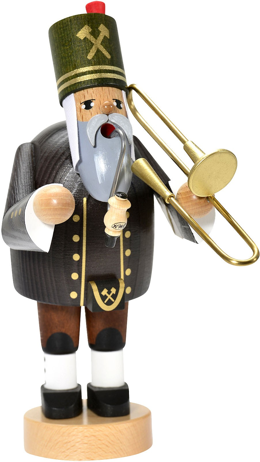 incense smoker, miner with trombone -the bearded men-