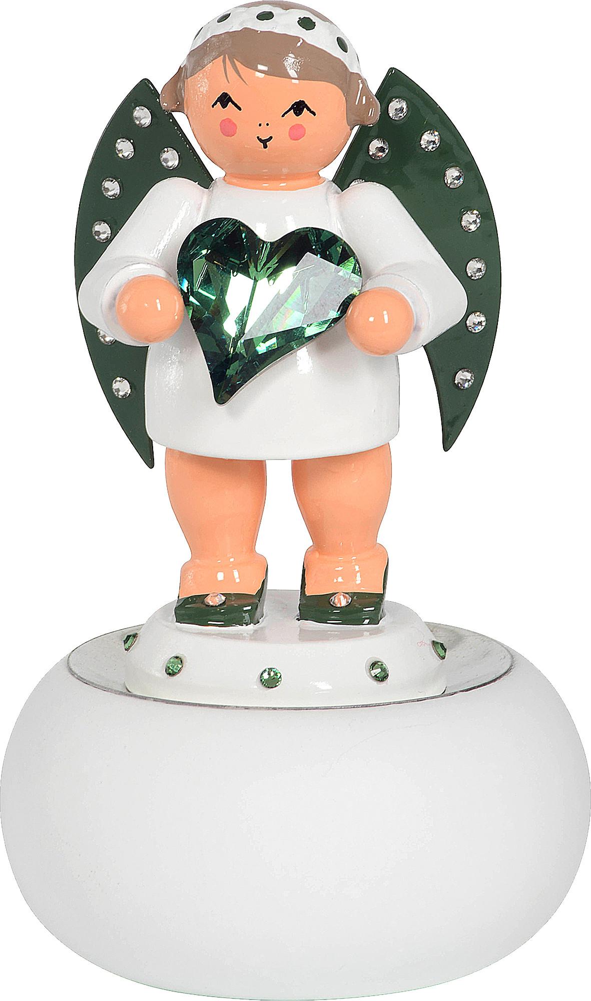 KWO Hoffnungsbote mit grünem Swarovski-Herz - limitiert