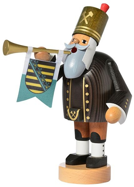 incense smoker, miner with trumpet